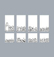 set of travel doodle symbols in vector image vector image