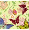 springtime butterfly seamless pattern vector image vector image