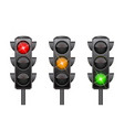 traffic lights with all three colors