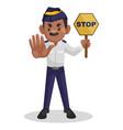 traffic police cartoon vector image