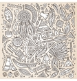 Tribal native American sketch set of symbols vector image vector image