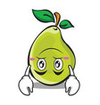 upside down face pear character cartoon vector image vector image