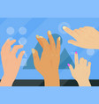 users hands touch gestures technology internet vector image vector image