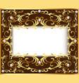 vintage background frame with vegetable golden vector image vector image