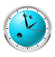 wall clock bowling style on white background vector image