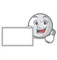 with board golf ball character cartoon vector image