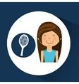 athlete girl racket tennis sport style vector image