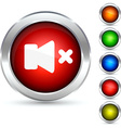 Mute button vector image