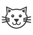 cat mascot pet silhouette icon vector image