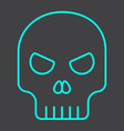 skull line icon halloween and scary dead sign vector image
