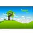 Summer background with tree vector image
