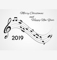 2019 happy new year and merry christmas on vector image vector image