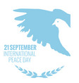 21 september international peace background vector image