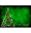 Absrtact Floral Christmas Tree Background vector image vector image