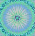 Abstract star mandala fractal background vector image vector image
