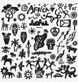 africa nature symbols icon set graphic signs vector image