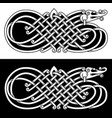 banner in the celtic style vector image vector image