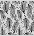 beautiful black leaves pattern background vector image