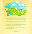 best spring sale 70 off web poster online buttons vector image vector image