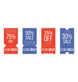black friday sale poster in format discount vector image vector image