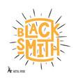 blacksmith lettering logo design vector image vector image