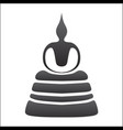 buddha silhouette on white background vector image vector image