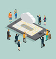 business isometric for cloud computing vector image