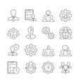 business management outline icons on white vector image vector image