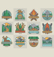 camping outdoor tourist travel logo scout badges vector image vector image