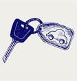 Car keys vector image vector image