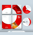 cd envelope dvd case design business template vector image