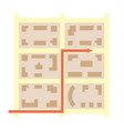 city blocks and arrow that showing direction - map vector image vector image