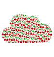 cloud shape of cherry icons vector image vector image