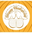 Color celebratory background turkey bird vector image
