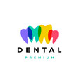 colorful dental tooth teeth logo icon vector image vector image