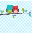 Couple of owls vector | Price: 1 Credit (USD $1)