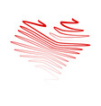 crayon valentine vector image vector image