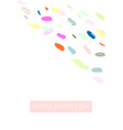 creative card with hand drawn confetti brush vector image