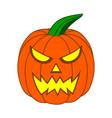 cute cartoon halloween pumpkin with funny face vector image