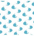 cute little whales characters pattern vector image vector image