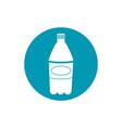 drinks plastic bottle soda refreshment blue block vector image