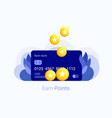 earn points concept vector image vector image