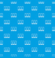electronic circuit board pattern seamless blue vector image vector image