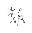 fireworks holidays line icon concept fireworks vector image