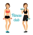 Fitness club advertising banner template vector image