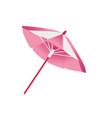 flat beach sun umbrella icon vector image