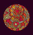 flower mandala art nature decoration vector image vector image