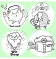 Funny sheep vector image vector image