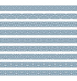 greek pattern border vector image vector image