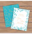 Greeting cards with grunge leaves vector image vector image
